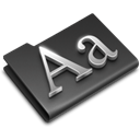 Fonts DarkSlateGray icon