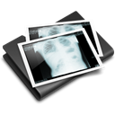 X-ray, Folder, thorax Black icon