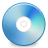 Blu, ray, disc CornflowerBlue icon