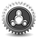 performance, Cog, settings Black icon