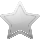 Favorite, silver, star, bookmark Black icon