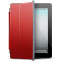 Cover, ipad, red Black icon