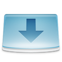 Folder, Downloads SkyBlue icon