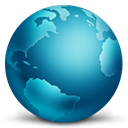 connected, globe Teal icon