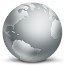 world, globe, global, internet, earth DarkGray icon