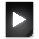 movie, File DarkSlateGray icon