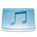 Folder, music SkyBlue icon