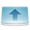 uploads, Folder SkyBlue icon