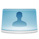 Users, Personal, Folder SkyBlue icon