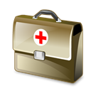 Bag, medical Black icon