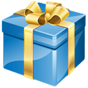 gifts, present, birthday SteelBlue icon