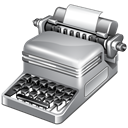 Publish, typewriter Black icon