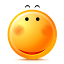 smile, Pretty DarkOrange icon