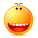 happy, smile Orange icon