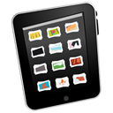gallery, ipad Black icon