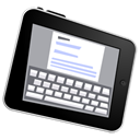 write, ipad Black icon