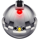 Bomb, thermal detonator, starward Black icon