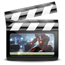 graphic, movie, ironman, video, motion Black icon