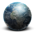 planet, earth, space Black icon
