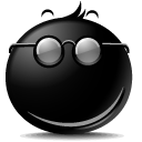 secret, smile Black icon