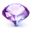 ruby, gem, diamond Lavender icon