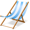 Chair, hairy, Beach, summer, vacation Black icon