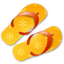 summer, Flip, flops Black icon