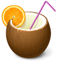 drink, cocktail, Coconut SaddleBrown icon