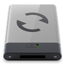 B, sync, grey DarkGray icon