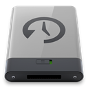B, grey, time, machine Icon
