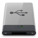 B, grey, Usb DarkGray icon