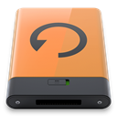 B, backup, Orange SandyBrown icon
