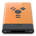 B, Orange, Firewire SandyBrown icon