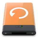 w, backup, Orange SandyBrown icon
