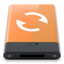 Orange, sync, w SandyBrown icon