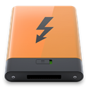 thunderbolt, Orange, B SandyBrown icon