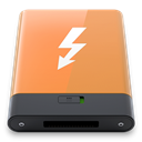 w, thunderbolt, Orange SandyBrown icon