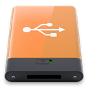 w, Orange, Usb SandyBrown icon