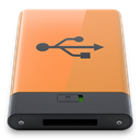B, Orange, Usb SandyBrown icon