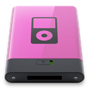 pink, B, ipod Orchid icon