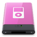 w, ipod, pink Orchid icon