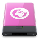 w, Server, pink Orchid icon