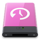 w, machine, time, pink Orchid icon