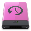 Disk, pink, time, machine Orchid icon