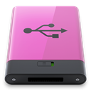 B, pink, Usb Orchid icon