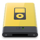 yellow, ipod Khaki icon