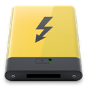 thunderbolt, yellow Khaki icon