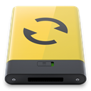 yellow, sync Icon