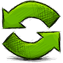refresh, Arrow OliveDrab icon