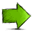 right, Arrow OliveDrab icon